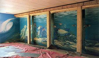 Butlins Mural work in progress